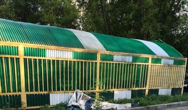 Двор в проезде Дежнёва очистили от мусора