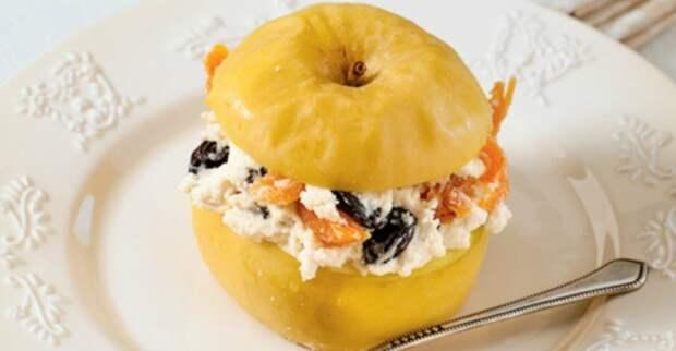 Яблоки запеченные с творогом: изумительный десерт