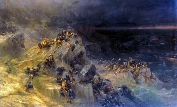 """Картина Айвазовского """"Всемирный потоп"""""""