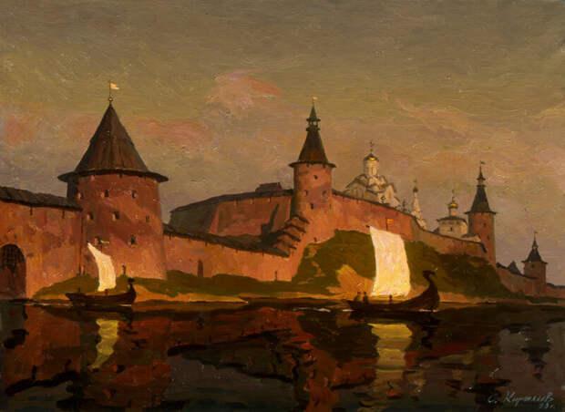 Сергей Кириллов.Кремль.Закат. 1990 г.