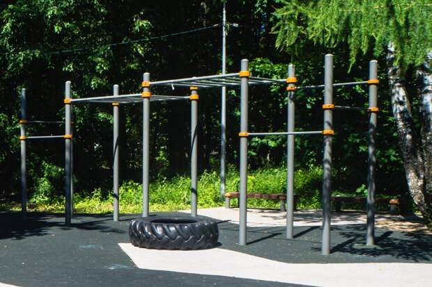 В парке на улице Свободы оборудовали шесть площадок для тренировок