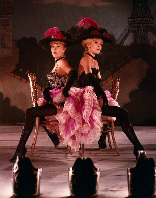 Брижит Бардо(Brigitte Bardot) на съемках фильма Viva Maria! (1965)