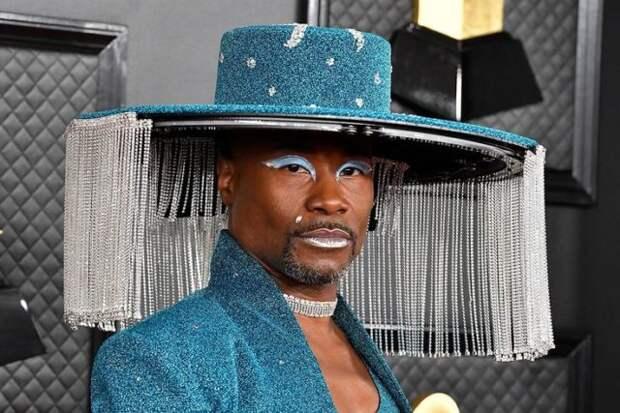 билли портер в голубой шляпе