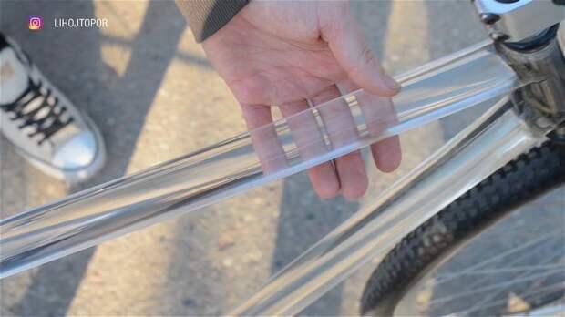 Как сделать прозрачный велосипед