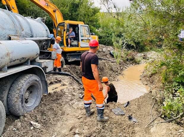 Водоснабжение в Геленджике восстановят до конца дня
