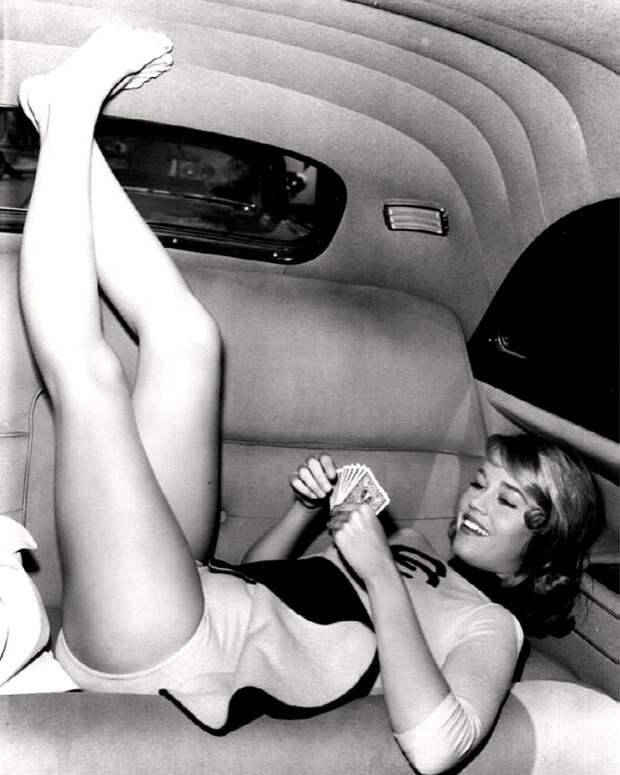 """Джейн Фонда во время съемок фильма """"Большая история"""" (1960)"""