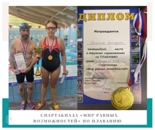 Пловцы из Лефортова стали победителями и призерами окружной спартакиады