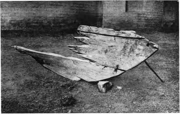 Рис. 2. Носовая часть лодки № 1 после консервации