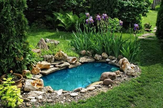 Легкий и дешевый способ сделать пруд на участке