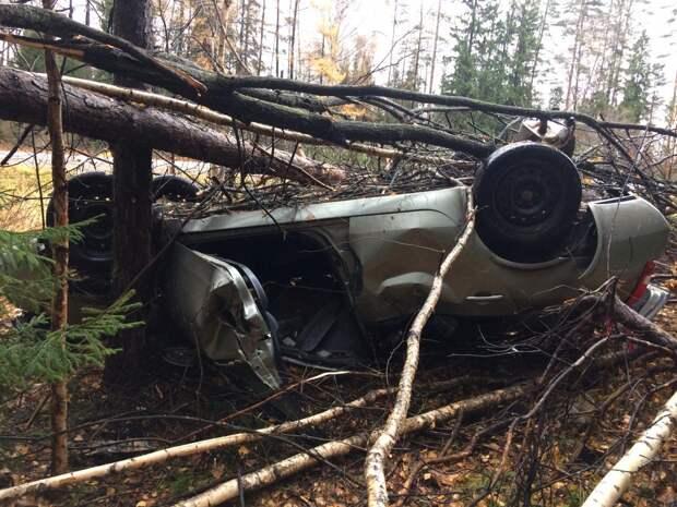 Непристегнутый водитель «Ниссана» погиб на трассе в Удмуртии при съезде в кювет