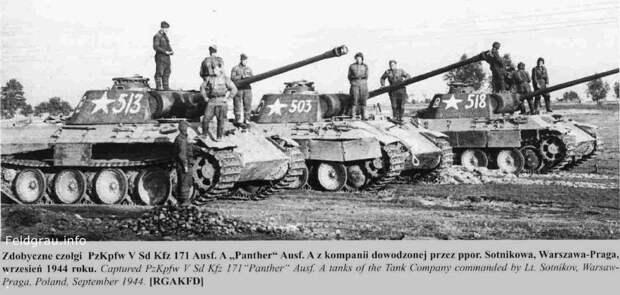 История фотографий трёх «пантер» тд СС «Викинг».