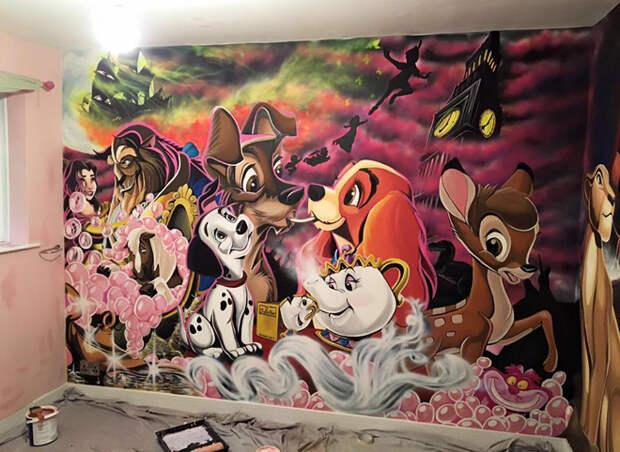 роспись стены
