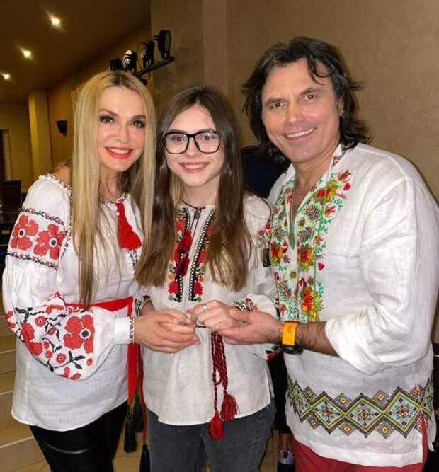 Ольга Сумская с дочерью Анной и мужем Виталием Борисюком