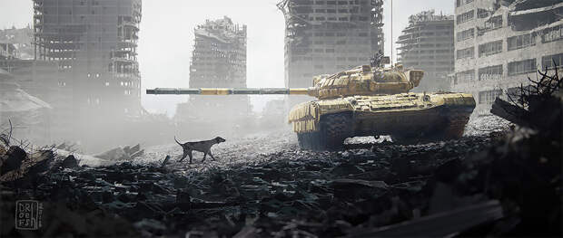 Превосходные научно-фантастические арты отРонана ЛеФура