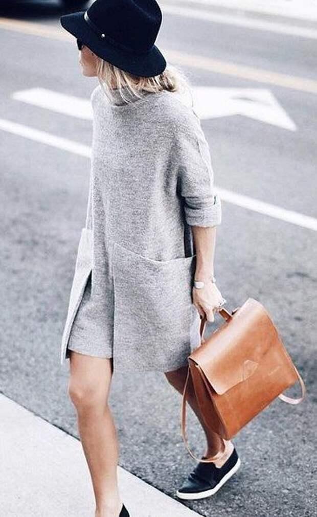 Необычное платье с карманами