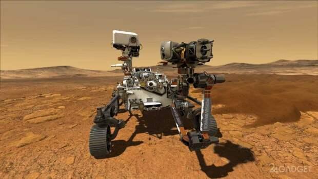 NASA опубликовала видео смоделированной посадки Perseverance на Марс