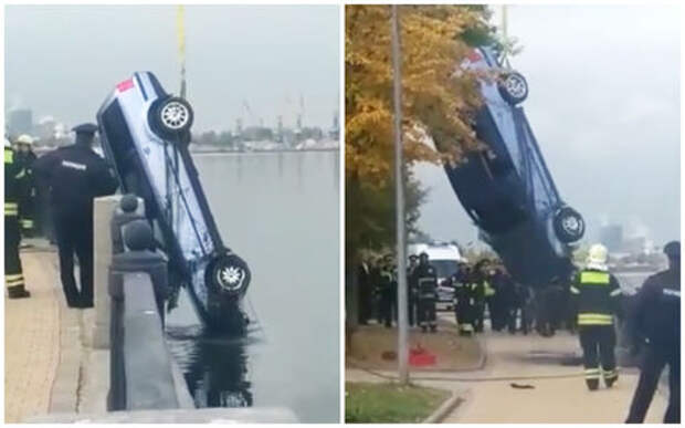 Погоня вслепую: спасаясь от патруля, водитель улетел в реку