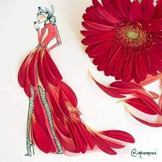 Цветочное искусство от иллюстратора Moomooi