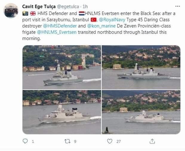 Корабли НАТО в Черном море: Украинцы ликуют, русские изучают мишени
