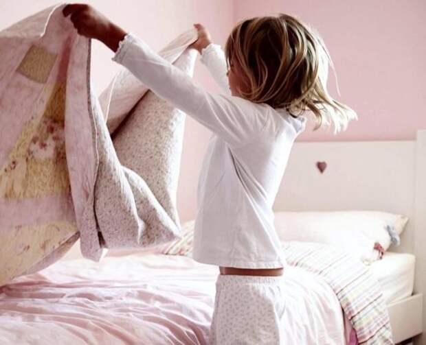 Застелить кровать - минутное дело.
