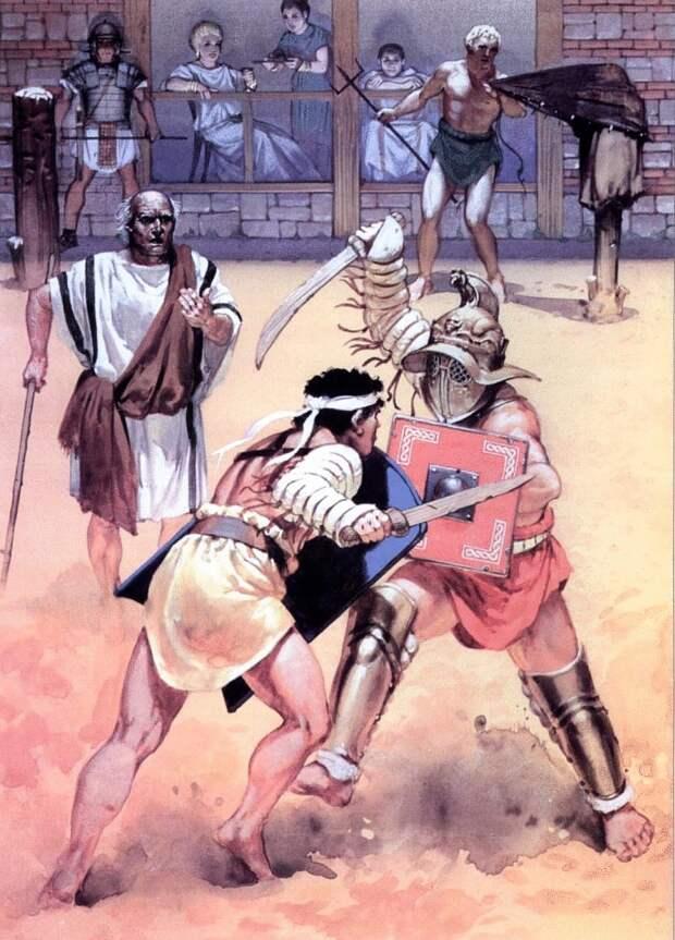 Бой друзей Веруса иПрискуса: как прошел единственный вистории подробно описанный гладиаторский бой