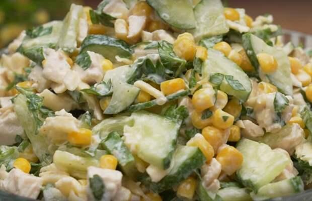 Удивительный салат из огурцов
