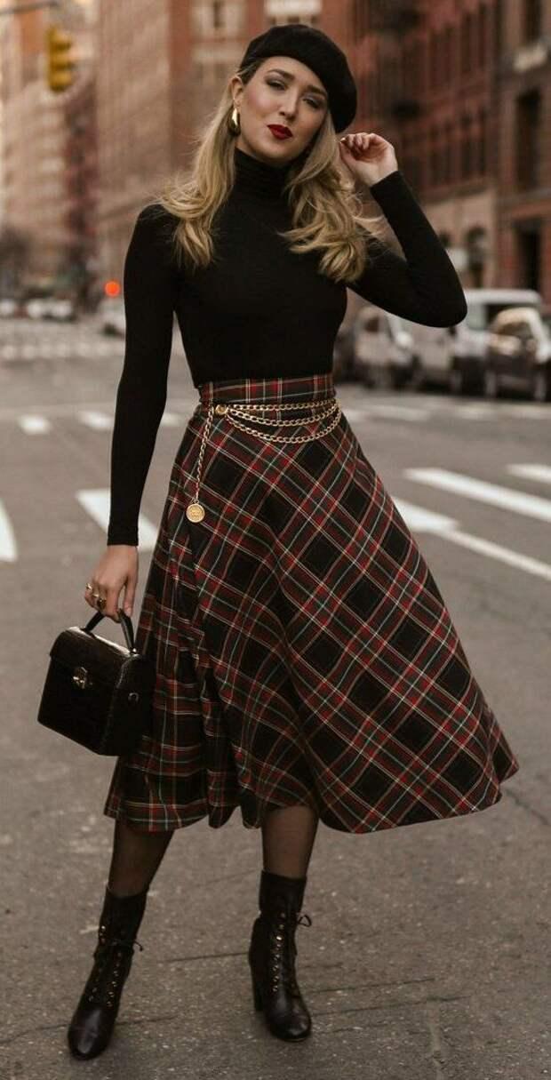 Юбки и брюки с завышенной талией. Как и с чем носить женщине 45+