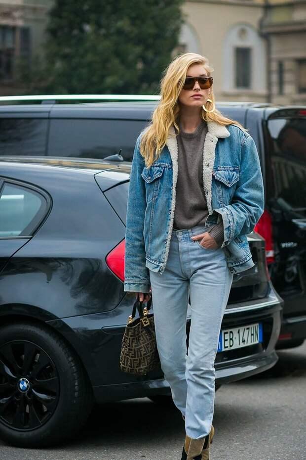 Повседневный образ с утепленной джинсовкой. /Фото: clara.es