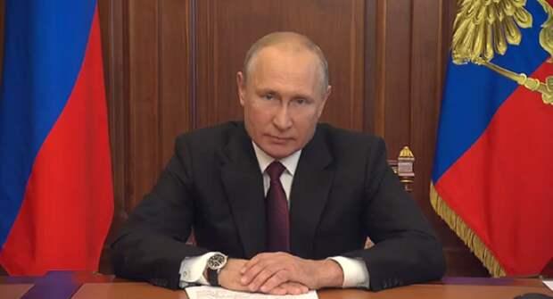 Названа причина отставания часов Путина от реального времени обращения к россиянам