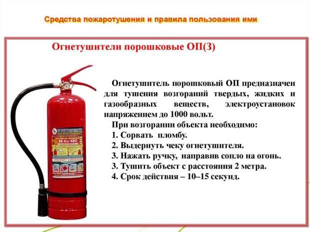 Жителям столицы рассказали, как пользоваться порошковыми огнетушителями