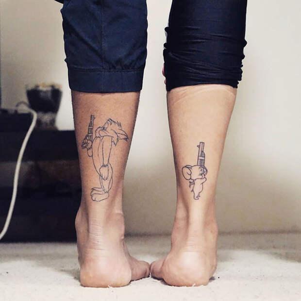 7 оригинальных идей для милых парных татуировок