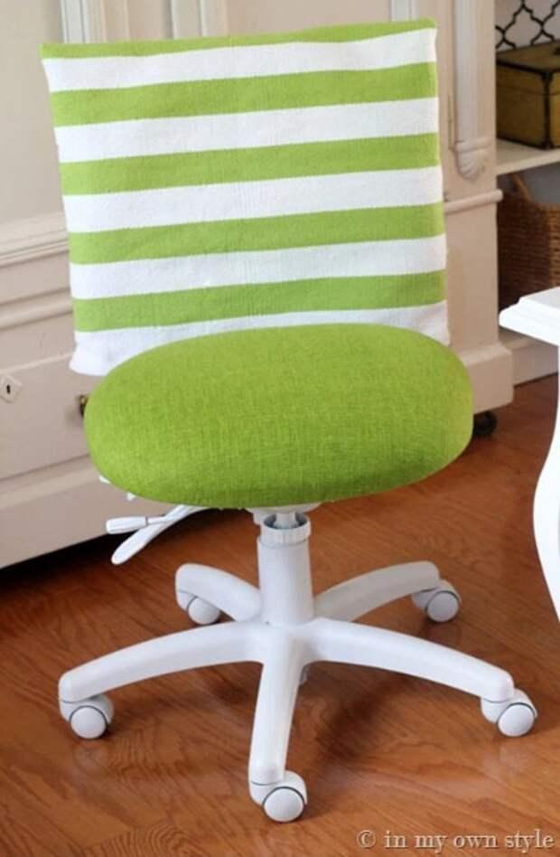 Вторая жизнь лучше первой: интересная переделка старого офисного стула