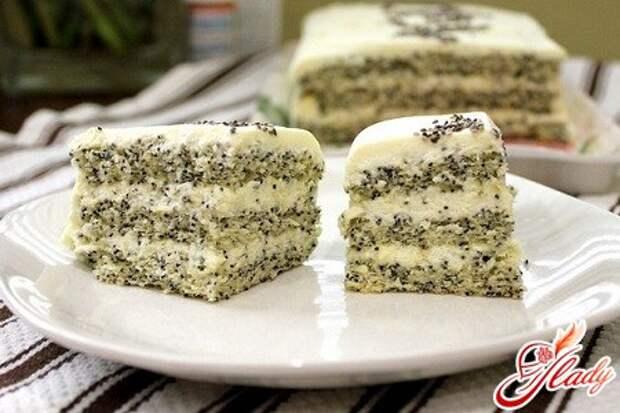 Торт с маком на любой вкус