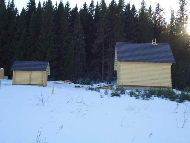 Строительство деревянного дома. Наш первый опыт в стройке.