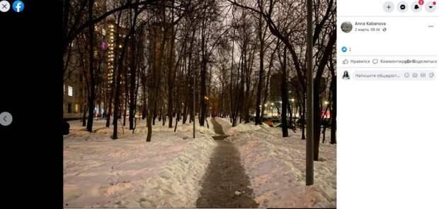 На Дыбенко зажгутся фонари и вывезут снег