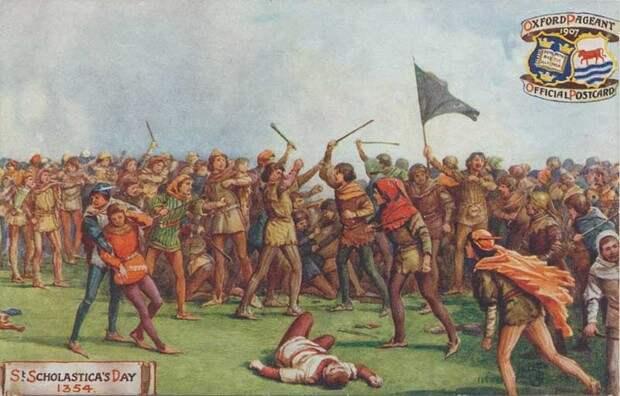 История самой большой драки в истории Англии:   2 дня боев, 93 погибших .