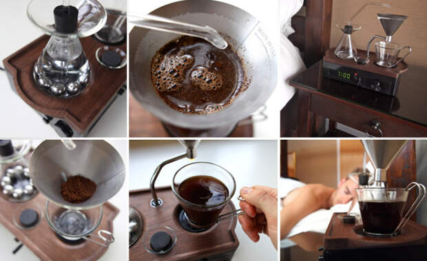 Будильник-кофеварка Bariseur Alarm Clock.