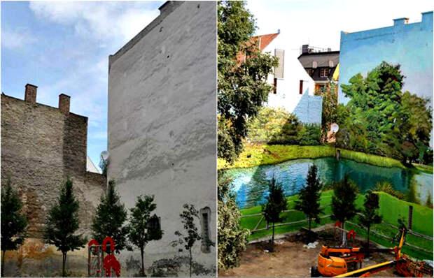 Фантастические граффити, преобразившие унылые фасады зданий со всего мира.