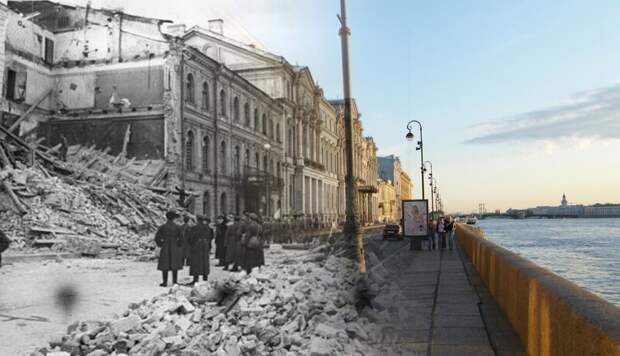 Ленинград 1941-2009 Дворцовая набережная 14 блокада, ленинград, победа