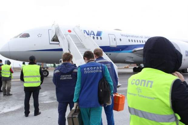 ВНовосибирске экстренно сел «Боинг», летевший изПарижа вТокио