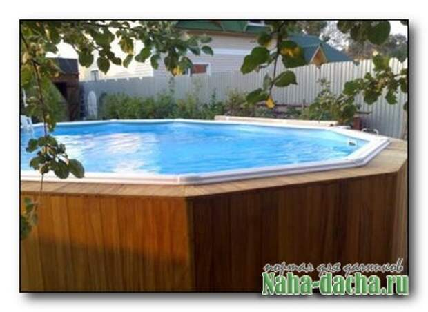 Простой бассейн для дачи