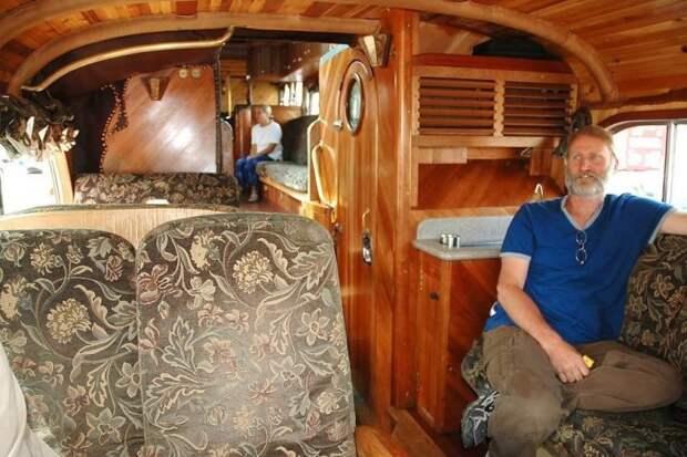 Интерьер автобуса Peacemaker II Peacemaker, авто, автобус, автомобили, дом на колесах, кемпер, транспорт