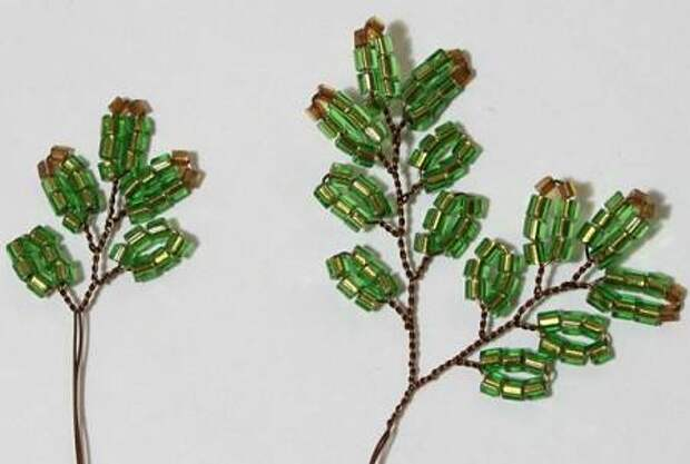 полуфабрикаты для 8 яруса дерева из бисера ёлочки