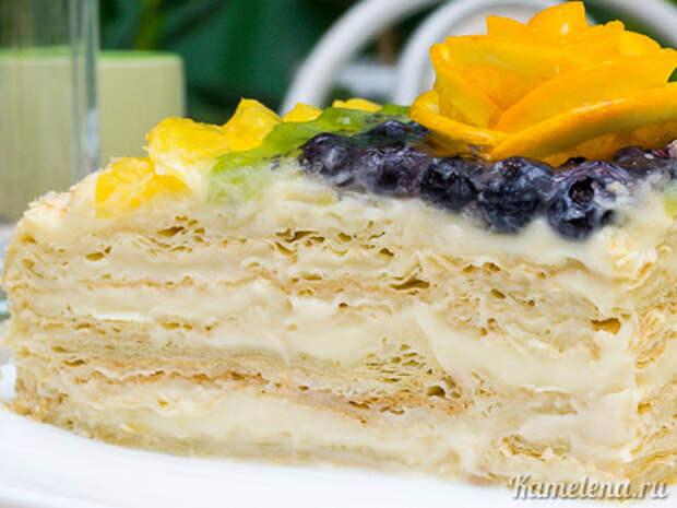 Торт «Наполеон» из слоеного теста — 14 шаг