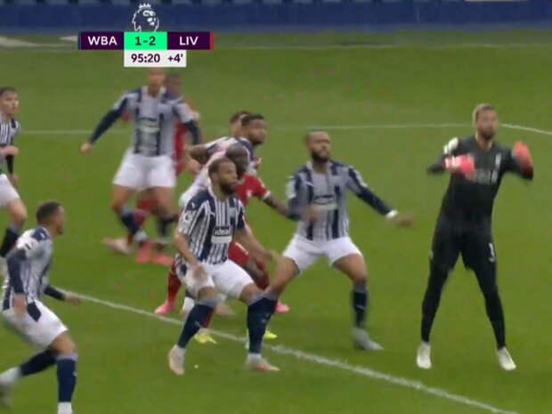 """Голкипер """"Ливерпуля"""" принес победу команде в матче АПЛ, забив мяч головой с углового на 5-й добавленной минуте"""