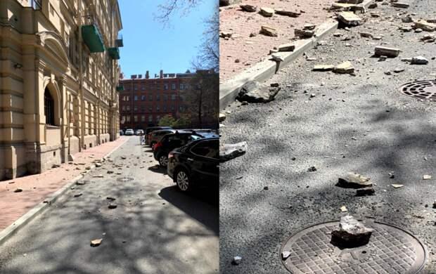 """""""Скоро весь город рухнет"""": петербуржцы возмущаются камнепадами с домов"""