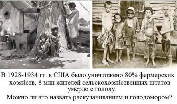 В Европе и США тоже свирепствовал голодомор