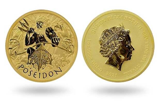 Австралия продолжила» золотыми инвестиционными монетами программу с «Богами Олимпа»