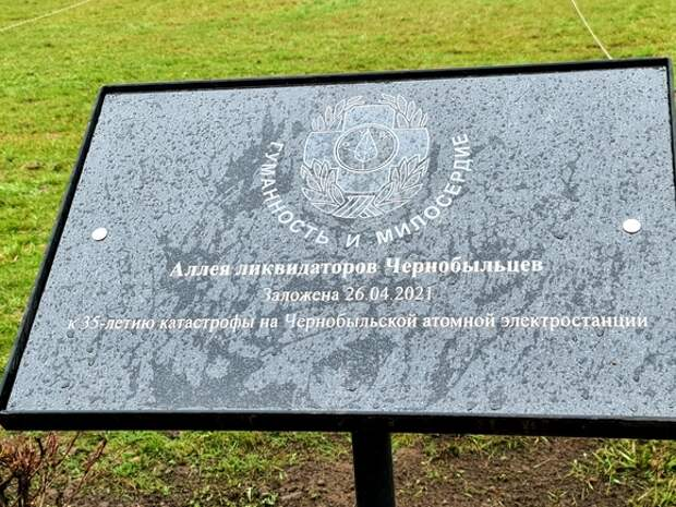 В Петербурге заложили Аллею ликвидаторов-чернобыльцев