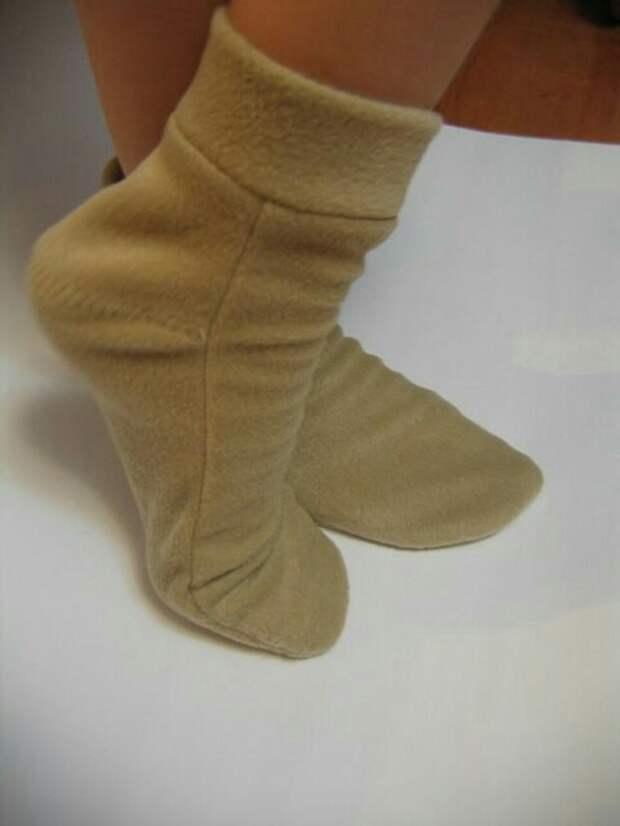Выкройка носков - домашних сапожков